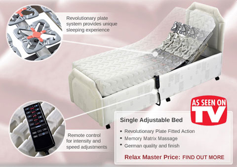 Single Adjustable Bed from Relax Master