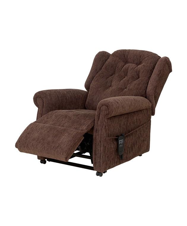 QVC Button Back Chair - Dark Brown