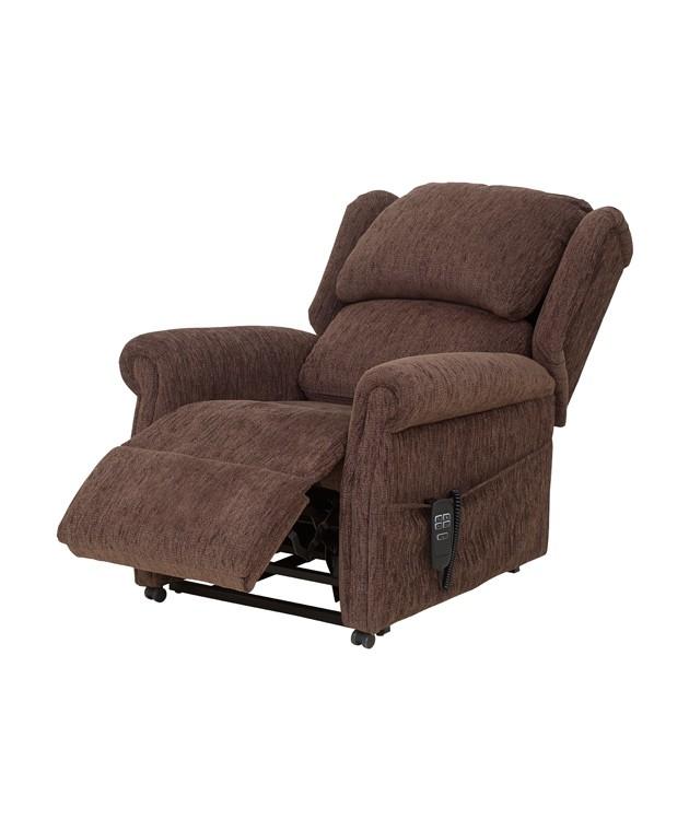 QVC Cushion Back Chair - Dark Brown