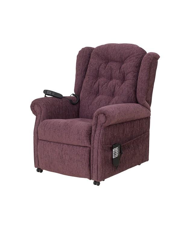 QVC Button Back Chair - Aubergine